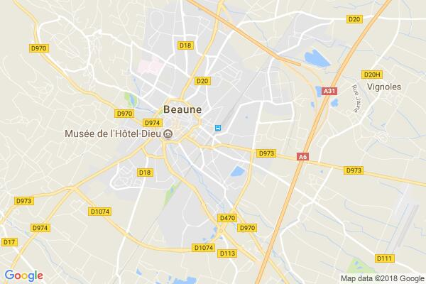 Carte statique de : LA COTE DOREE