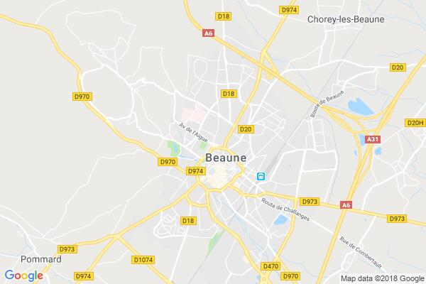 Carte statique de : ROCK'N'CLUB DE BEAUNE